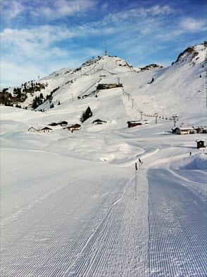 Skipisten in Kitzbühel